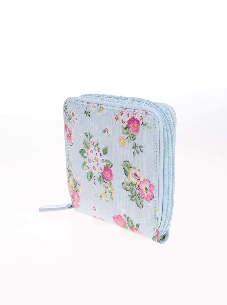 Svetlomodrá menšia kvetovaná peňaženka Cath Kidston