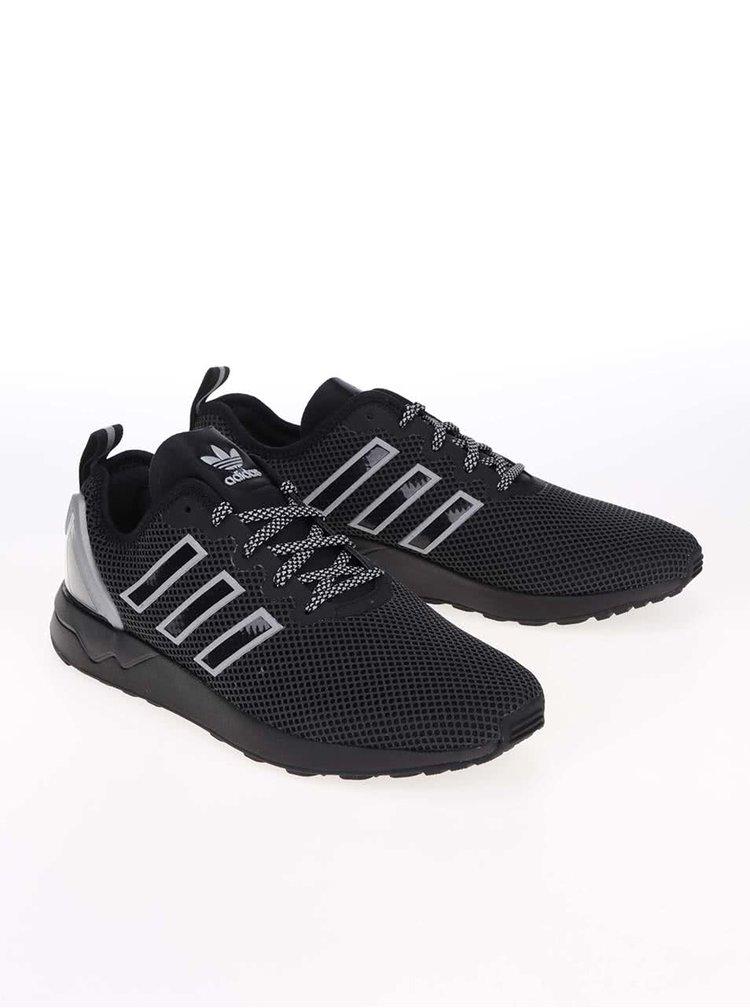 Sivo-čierne pánske tenisky adidas Originals ZX Flux Racer Asym