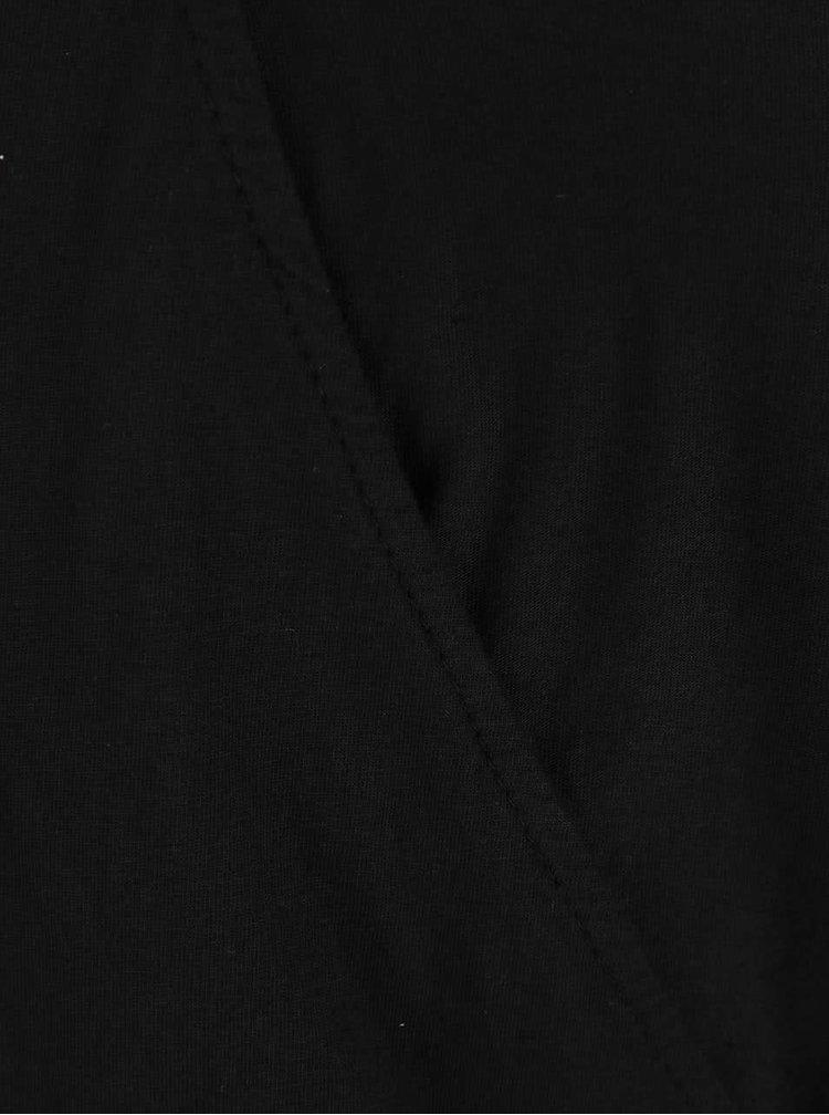 Černý top s dlouhým rukávem Madonna