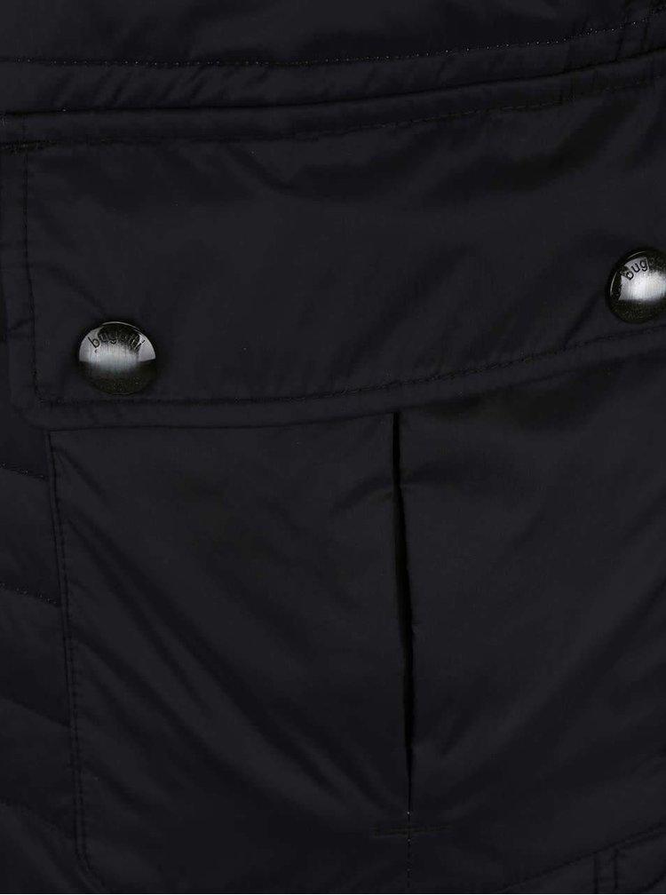 Čierna pánska prešívaná bunda bugatti