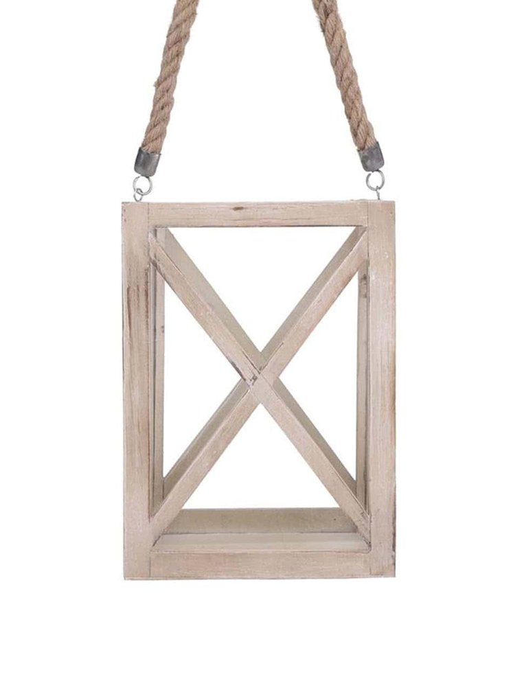 Veľký drevený svietnik na zavesenie Dakls