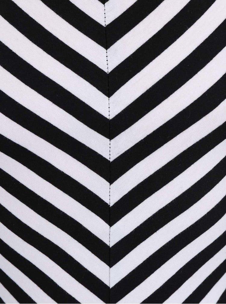 Čierno-biele pruhované dievčenské tielko LoveStation22 Cathy