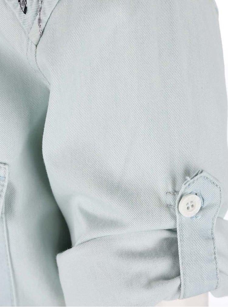 Rochie tip cămașă Horsefeathers Tereza albastru-deschis