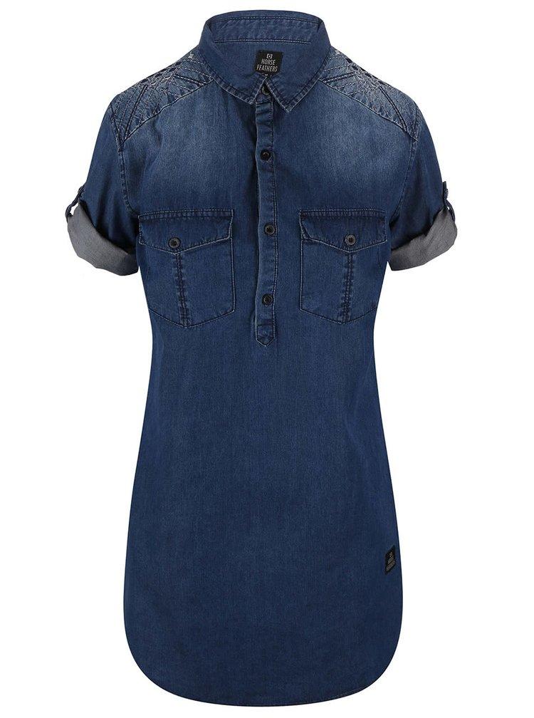 Tmavě modré košilové šaty Horsefeathers Tereza