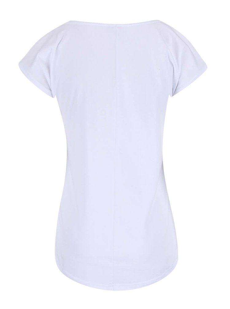 Biele tričko s potlačou Horsefeathers Pemba