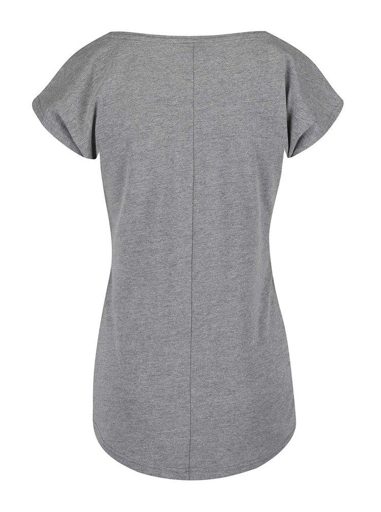 Sivé tričko s potlačou Horsefeathers Pemba
