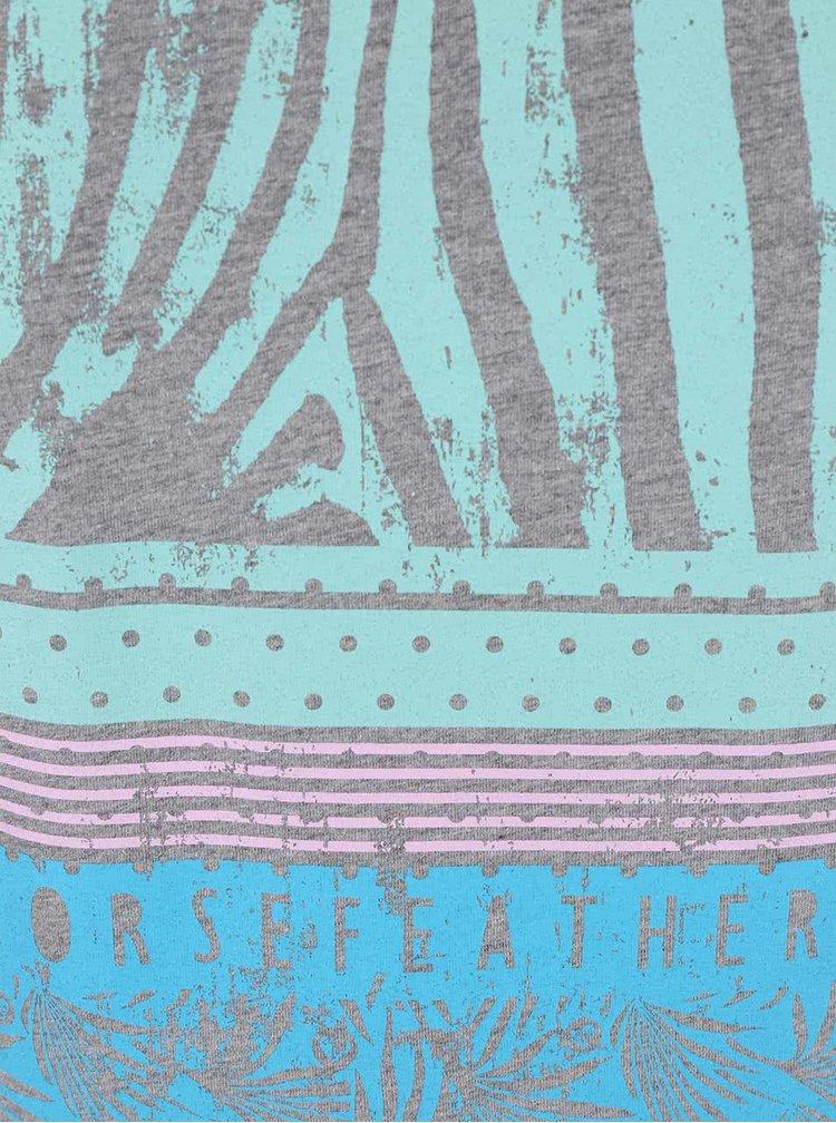 Tricou Horsefeathers Pemba gri cu imprimeu