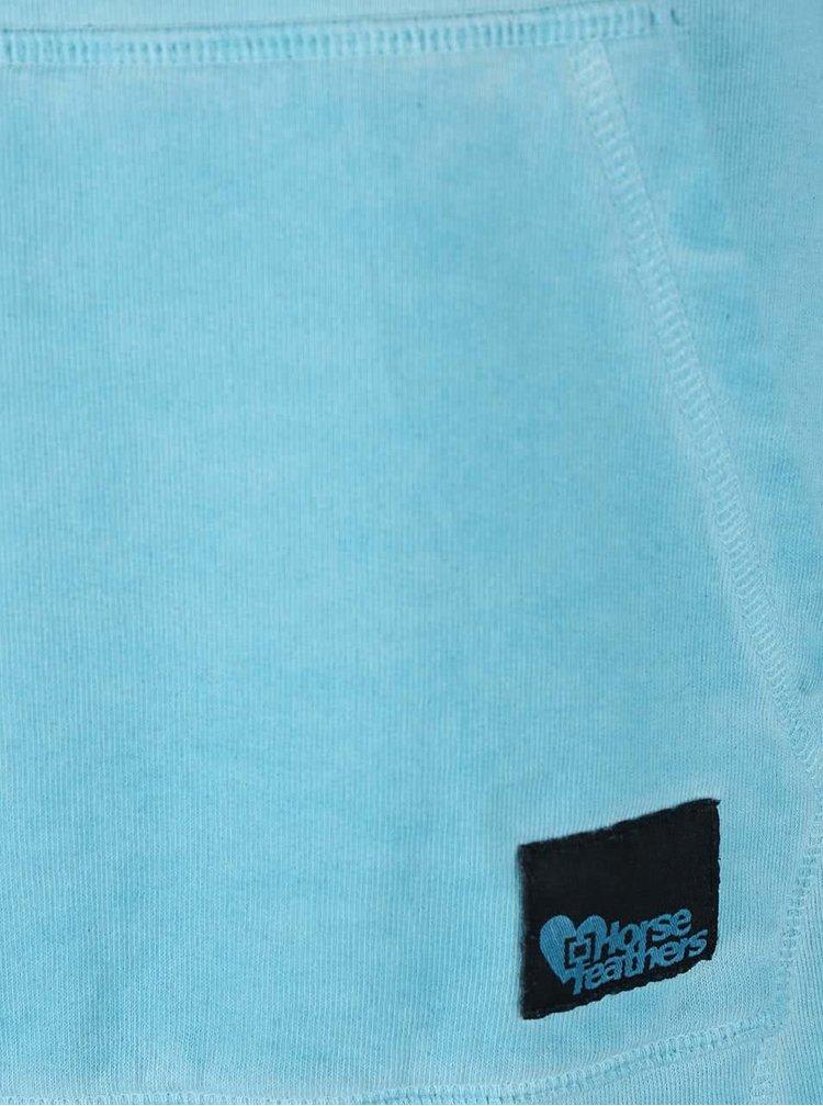 Hanorac Horsefeathers Carol albastru-deschis cu gluga