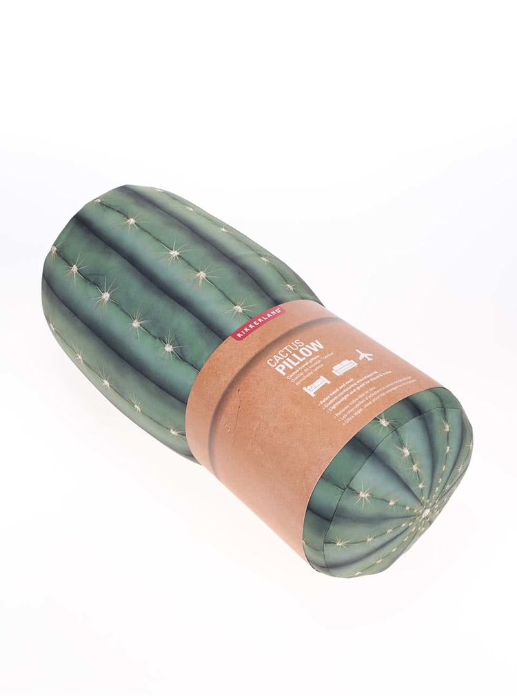 Zelený polštář ve tvaru kaktusu Kikkerland