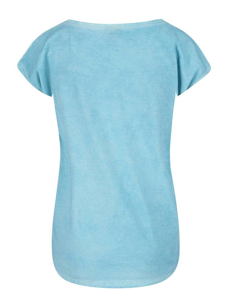 Tricou Horsefeathers albastru cu imprimeu