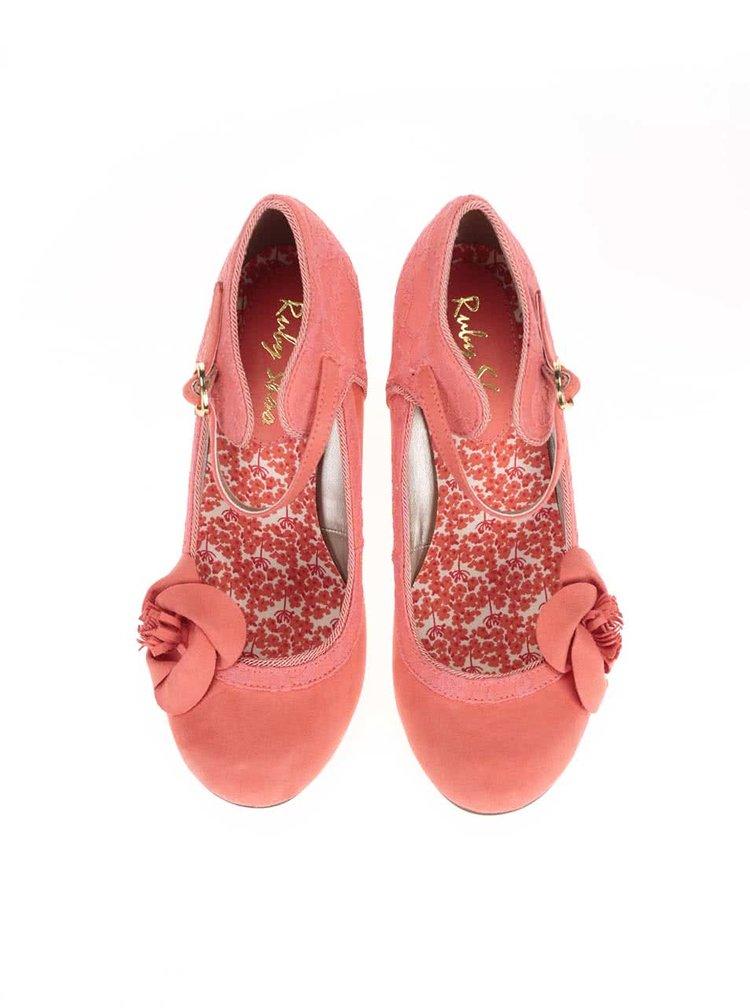 Pantofi de damă Ruby Shoo Anna corai