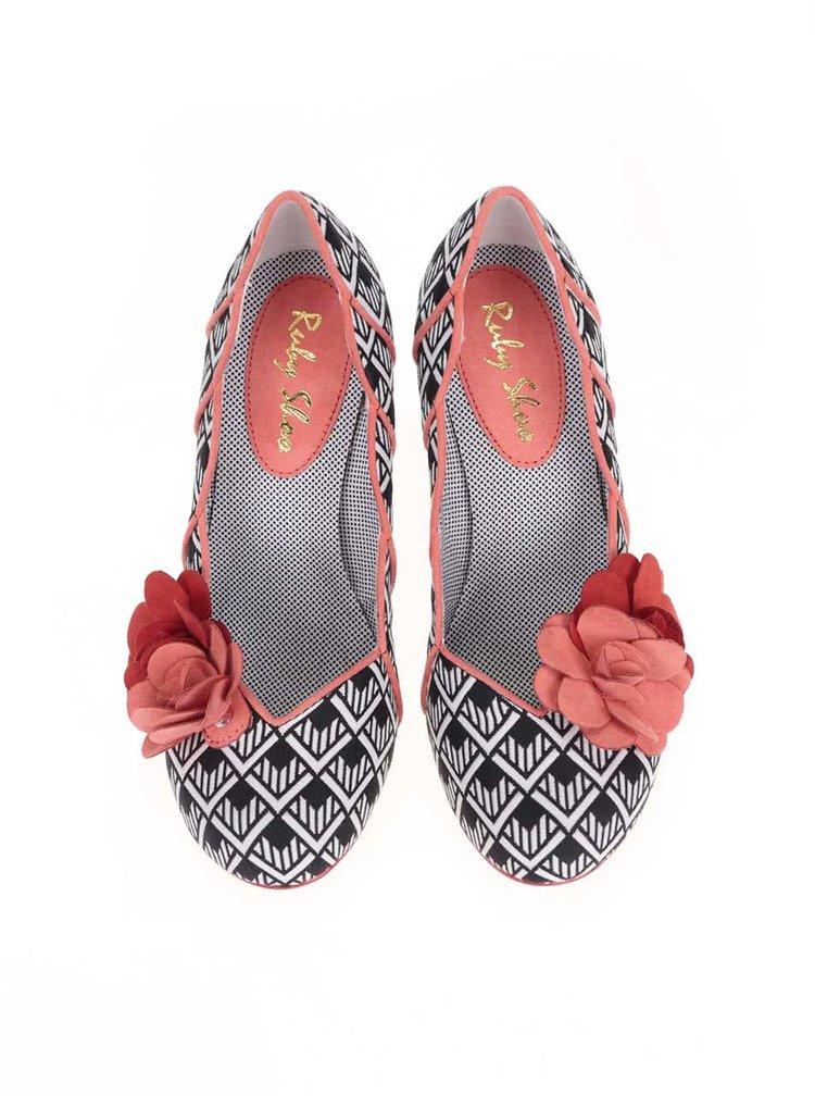 Pantofi Ruby Shoo April roșu cu negru