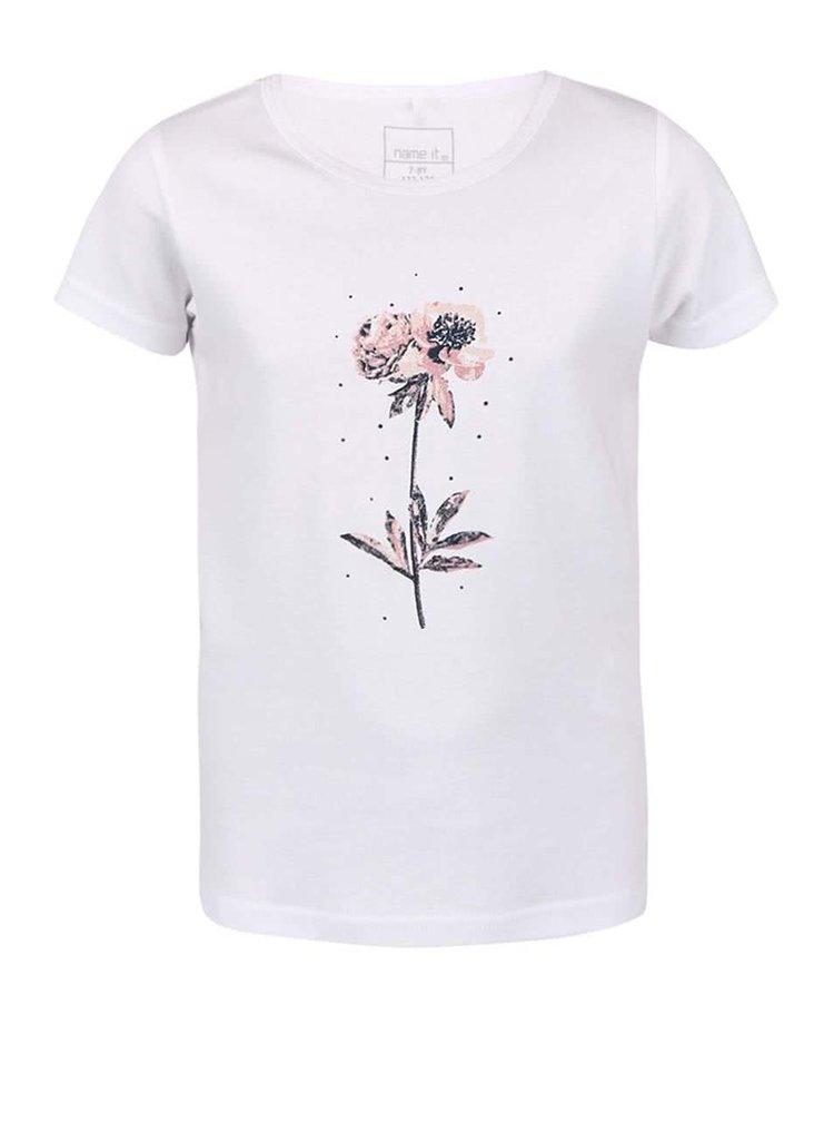 Biele dievčenské tričko name it Veen
