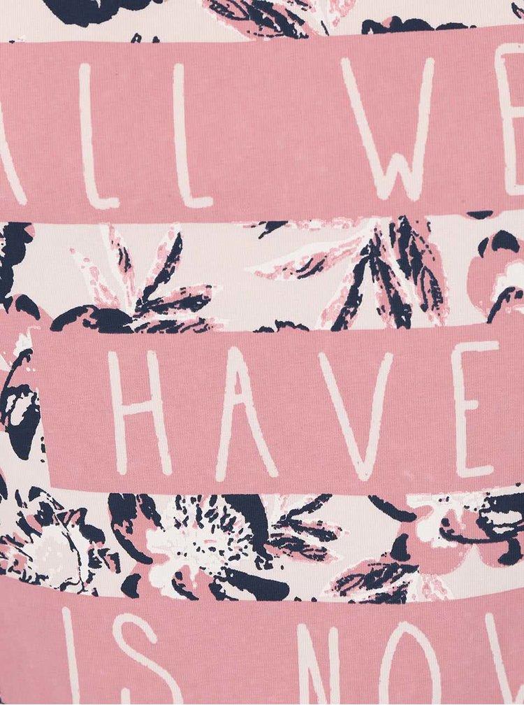 Ružové dievčenské tričko s textom name it Glitterish