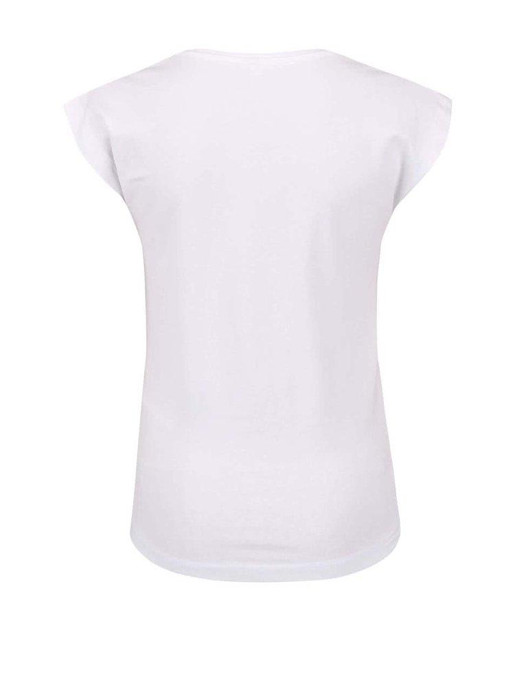 Krémové dievčenské tričko s nápisom name it Gibit