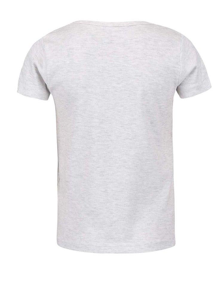 Sivé dievčenské tričko name it Veen