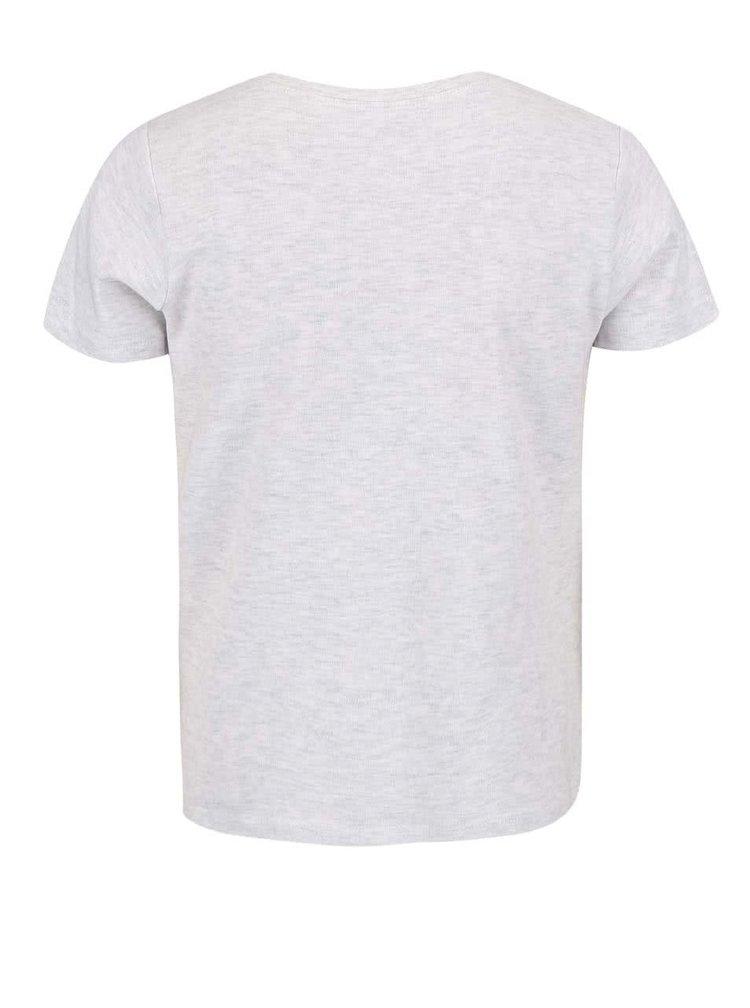 Sivé chlapčenské tričko s potlačou name it Victor