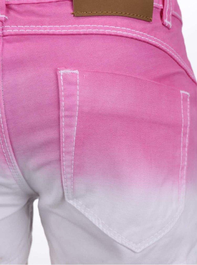 Pantaloni scurți Blue Seven albi-roz