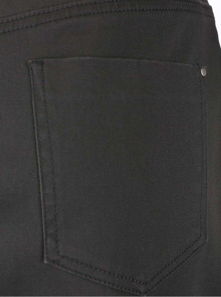 Zelenosivá gombíková sukňa Dorothy Perkins