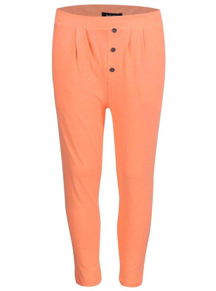 Oranžové holčičí tepláky s flitry Blue Seven
