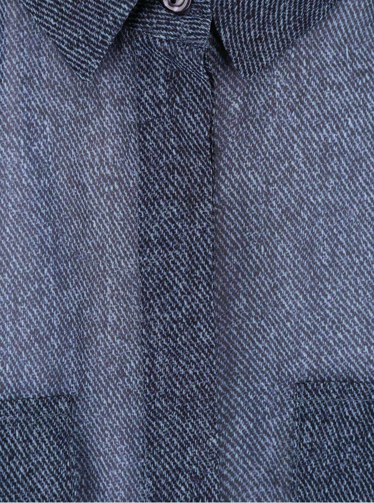 Tmavomodrá dlhšia blúzka Dorothy Perkins