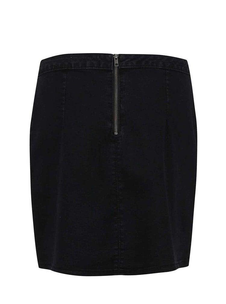 Černá džínová sukně s kapsami Dorothy Perkins