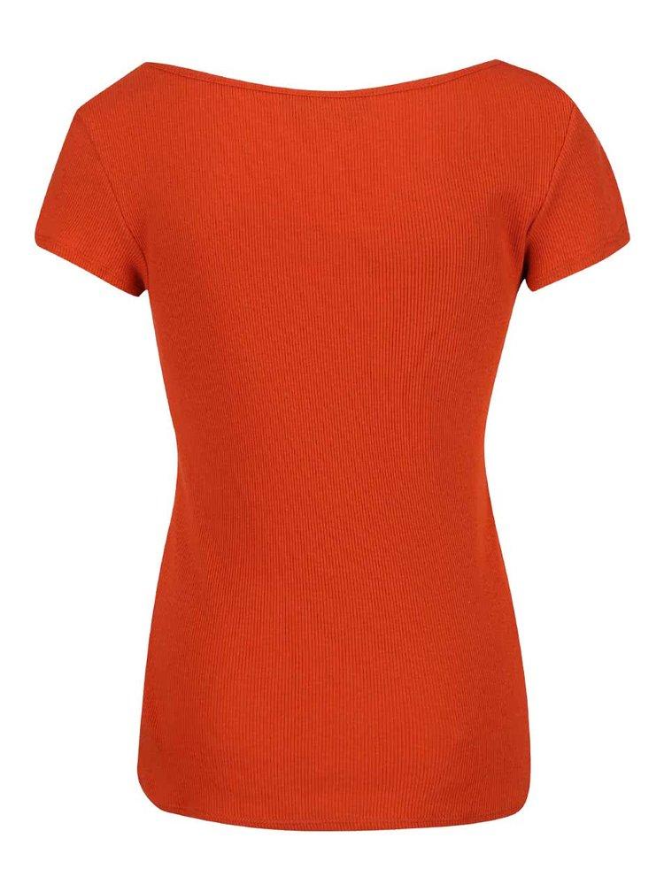 Oranžové tričko s krátkým rukávem Dorothy Perkins