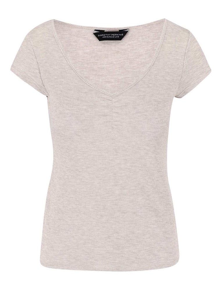 Béžové tričko s krátkym rukávom Dorothy Perkins