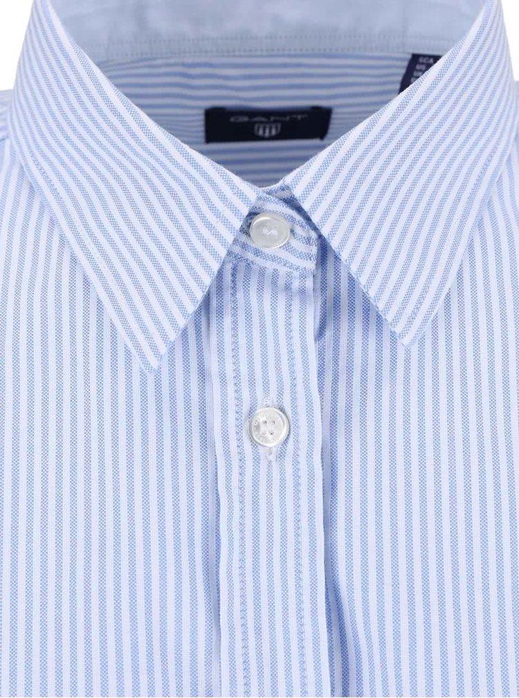 Modrá dámská košile s bílými proužky GANT