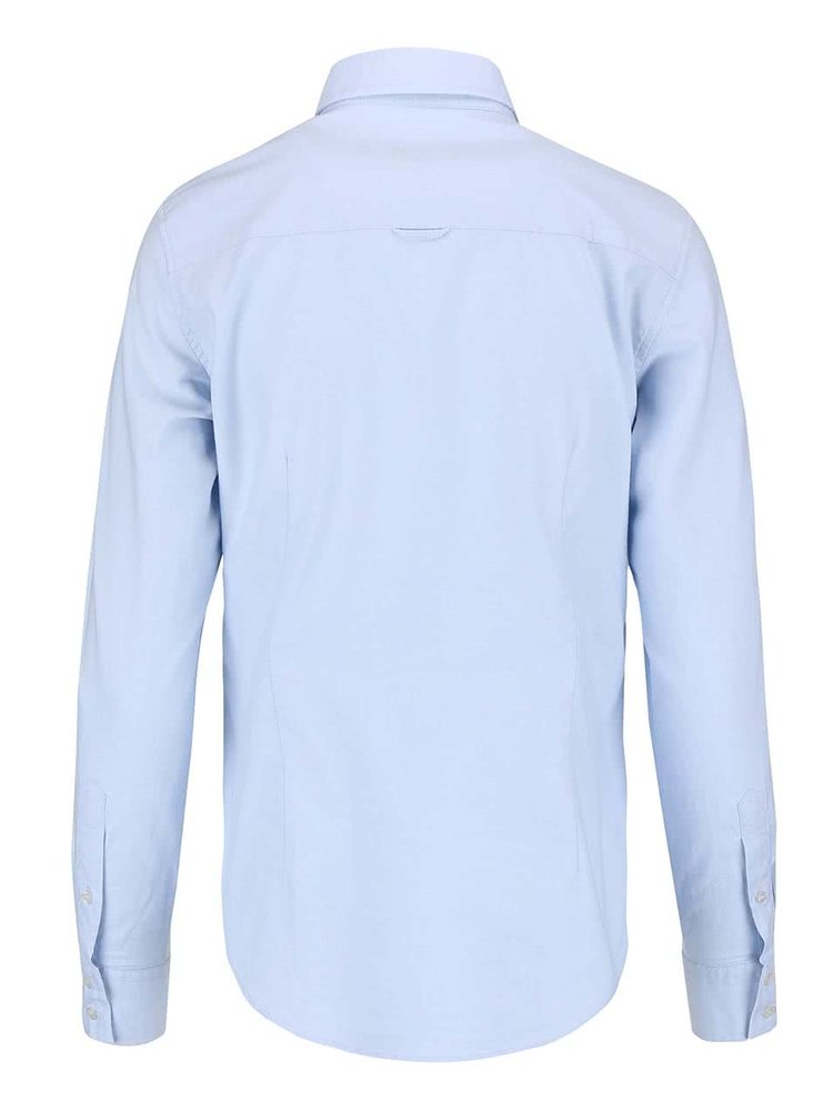 Modrá dámska košeľa s dlhým rukávom GANT