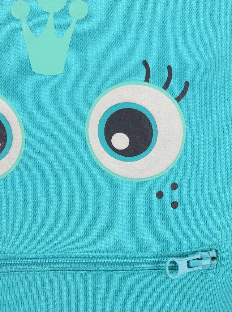 Tyrkysová holčičí mikina s kapsou Blue Seven