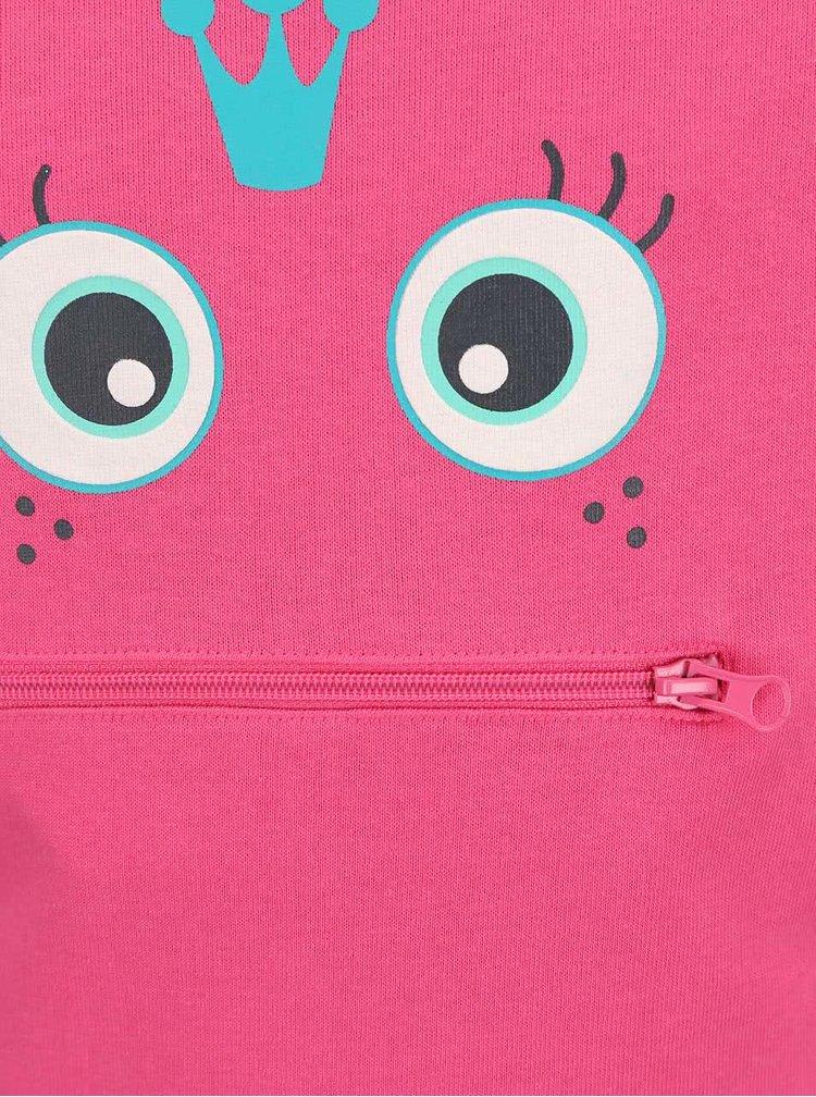 Růžová holčičí mikina s kapsou Blue Seven
