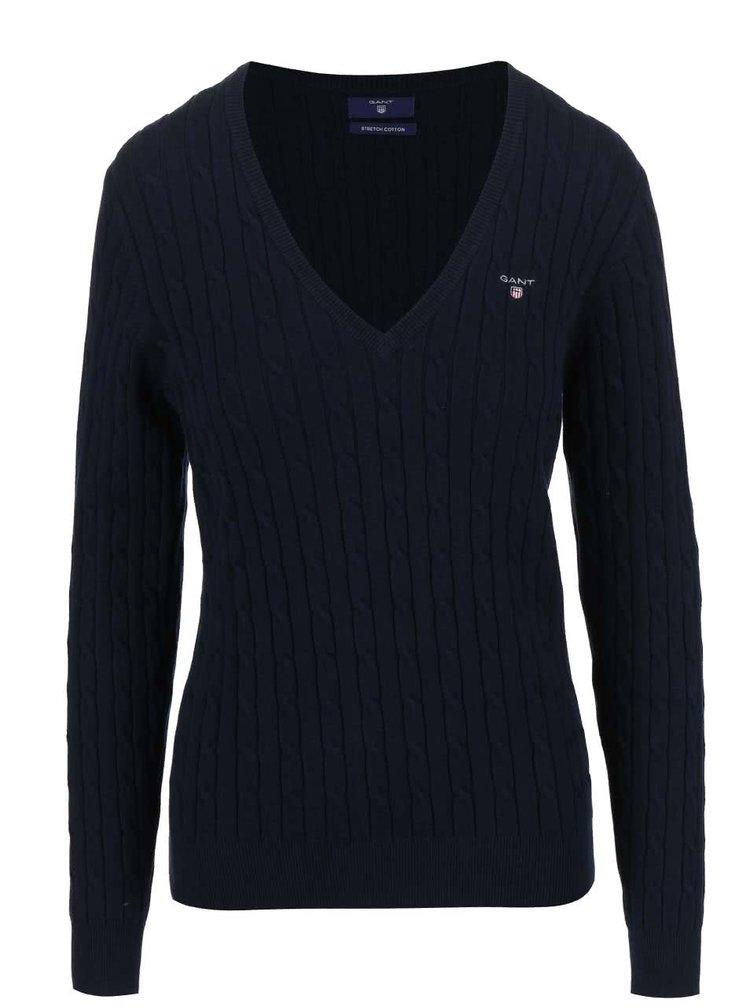 Modrý dámský svetr s výstřihem do V GANT