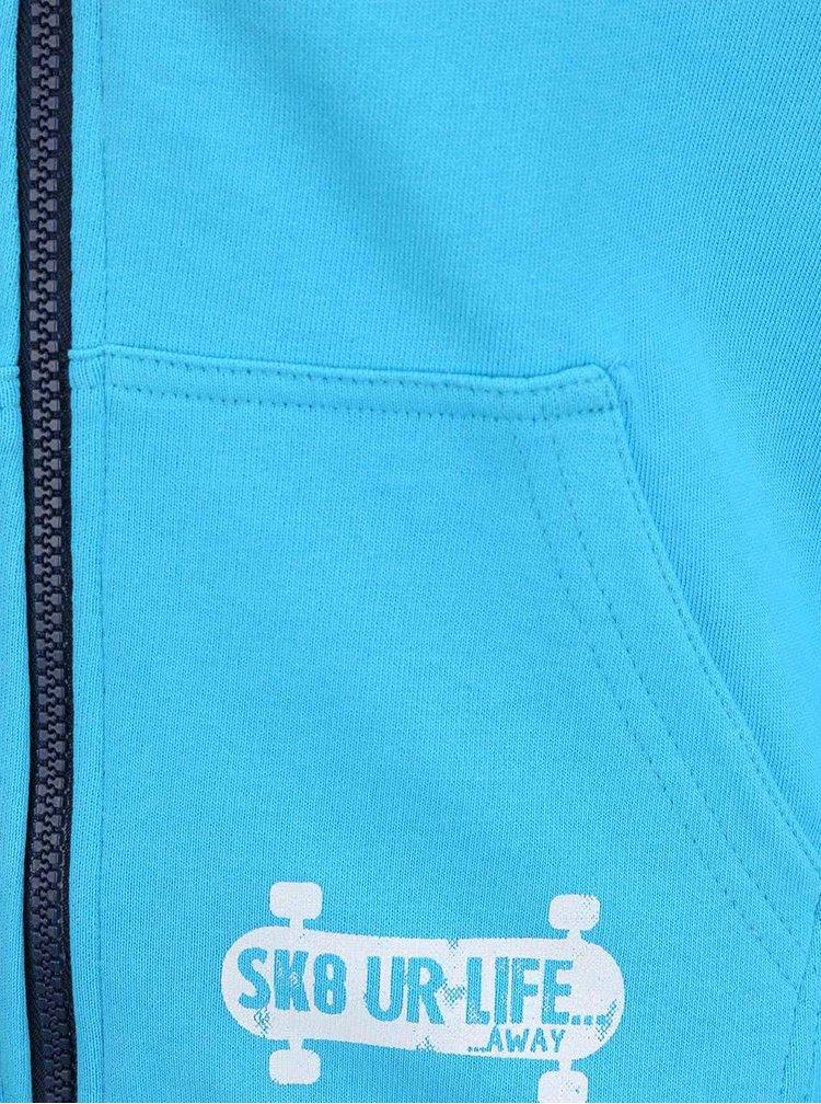 Tyrkysová klučičí mikina s potiskem Blue Seven