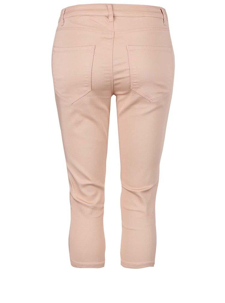 Pantaloni VERO MODA Flex roz trei sferturi