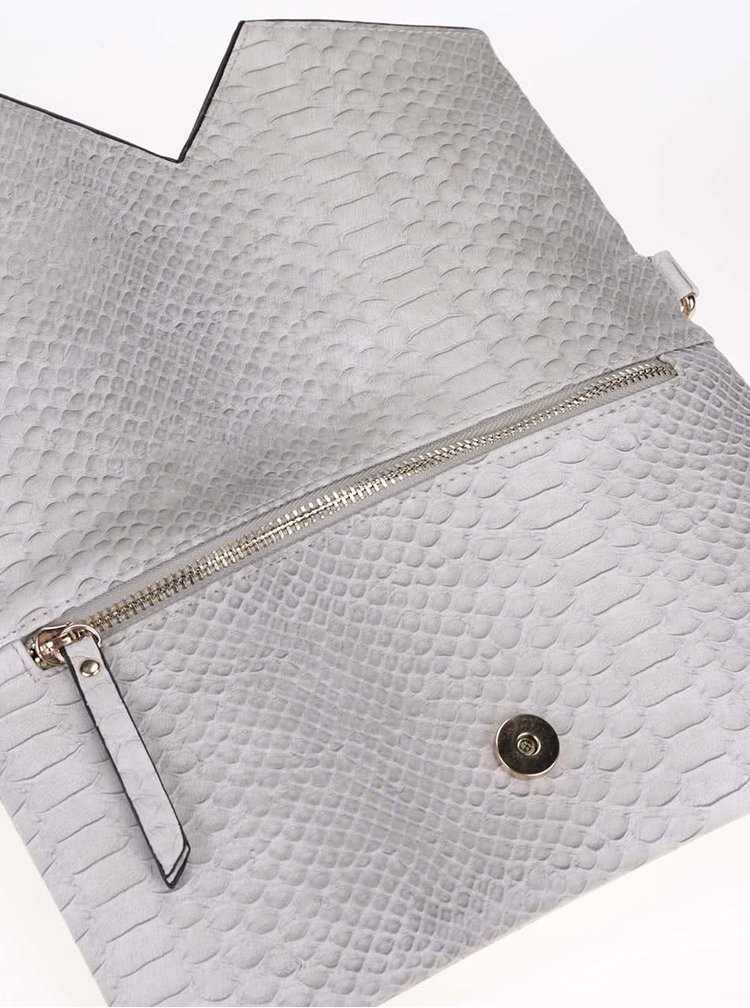 Svetlosivá listová kabelka Gionni Crystal