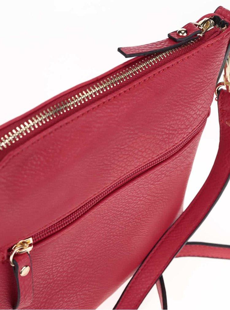 Červená crossbody kabelka Gionni Alina