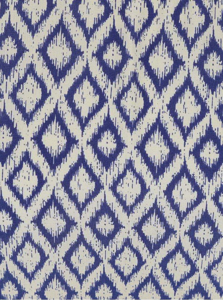 Tmavě modrý vzorovaný top PEP Bijou