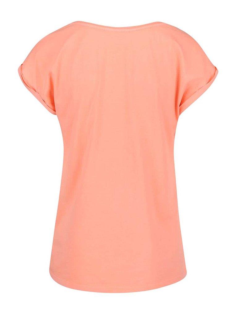 Koralové tričko  potlačou PEP Birta 2