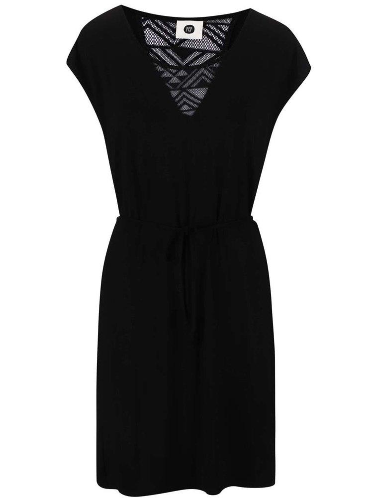 Černé šaty na zavazování PEP Blanka 2