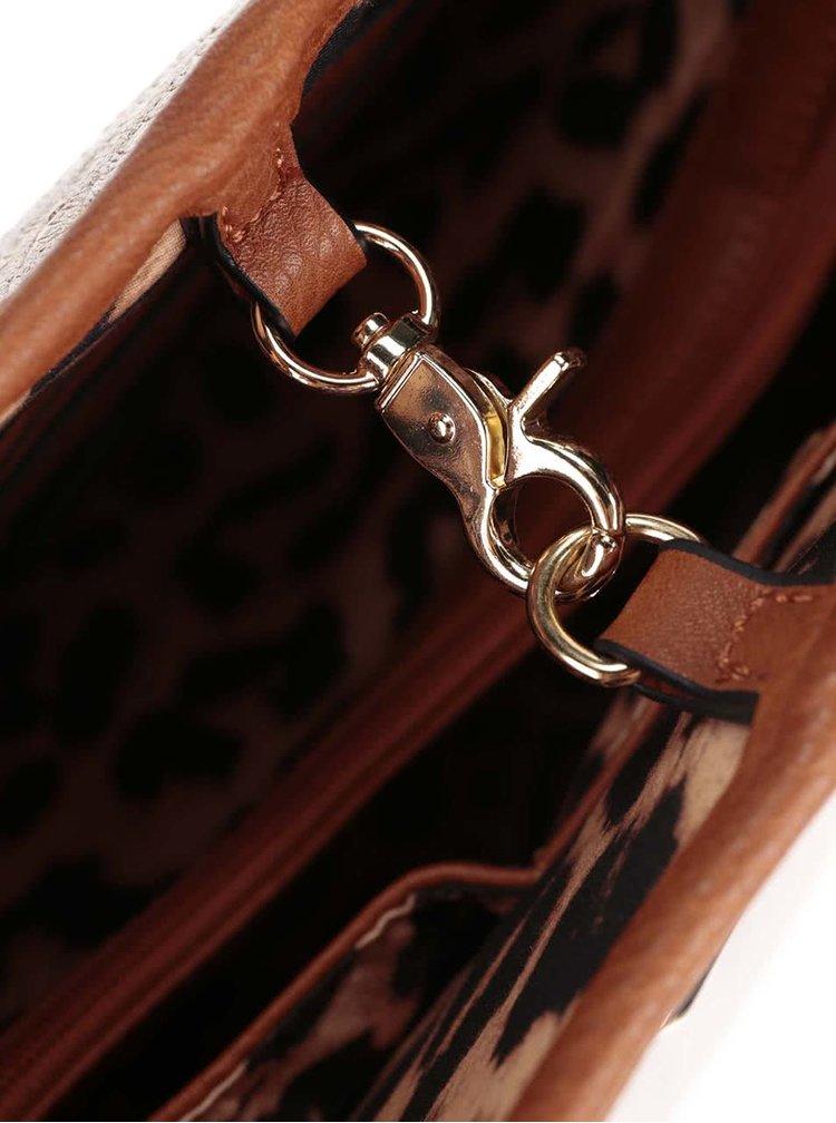Metalická  kabelka 2 v 1 s imitací hadí kůže Gionni Alek