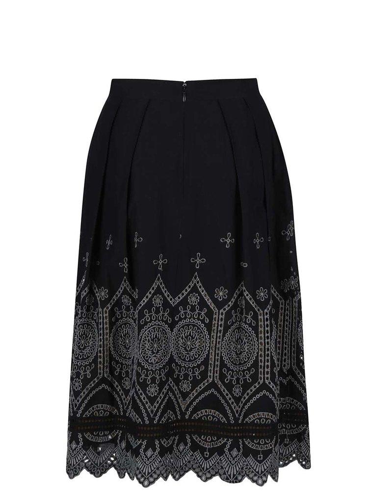 Čierna sukňa s čipkovaným vzorom French Connection Josephine
