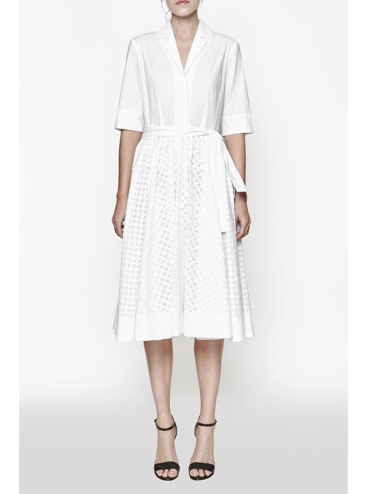 Krémové šaty s košilovým topem French Connection Geo