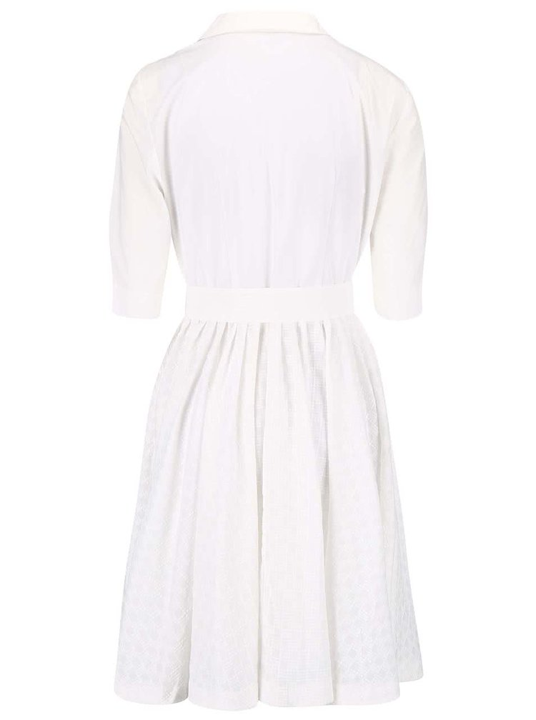 Krémové šaty s košeľovým topom French Connection Geo