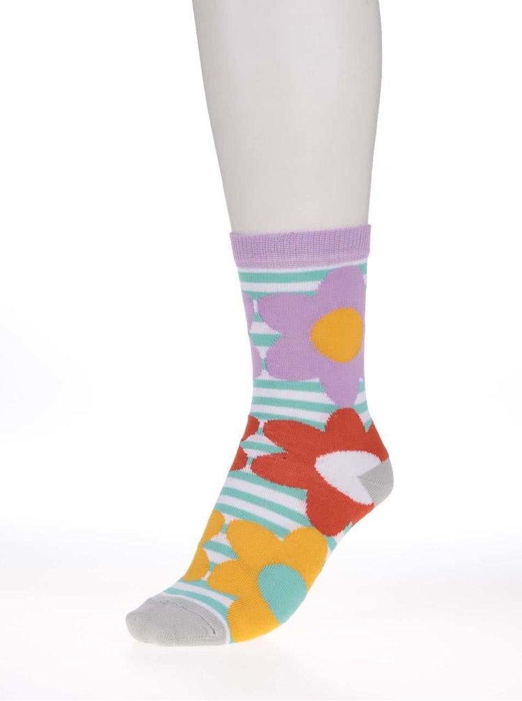 Sada troch kvetinových dámskych ponožiek Oddsocks Freya