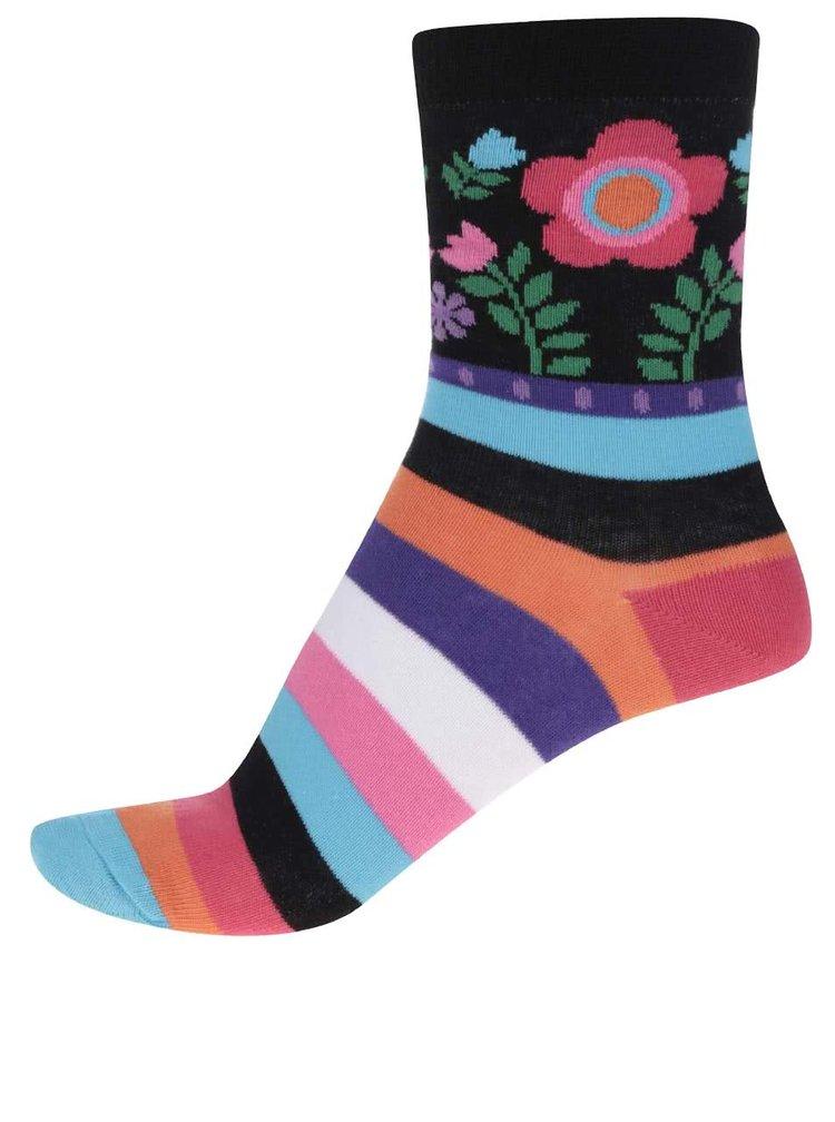 Sada tří dámských ponožek s květy a pruhy Oddsocks Izzy