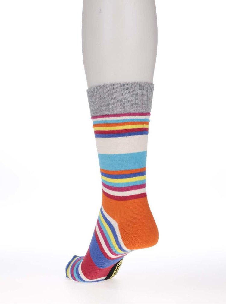 Sada tří pánských ponožek v červeno-šedé barvě s pruhy Oddsocks Will