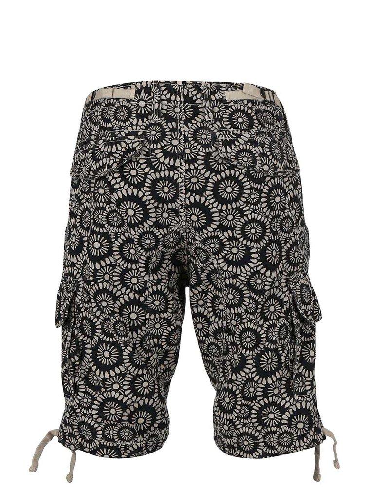 Pantaloni scurți Jack&Jones negri cu model