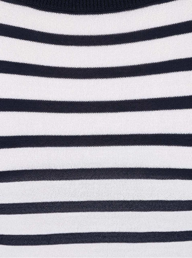 Bílo-modré pruhované šaty French Connection Cass
