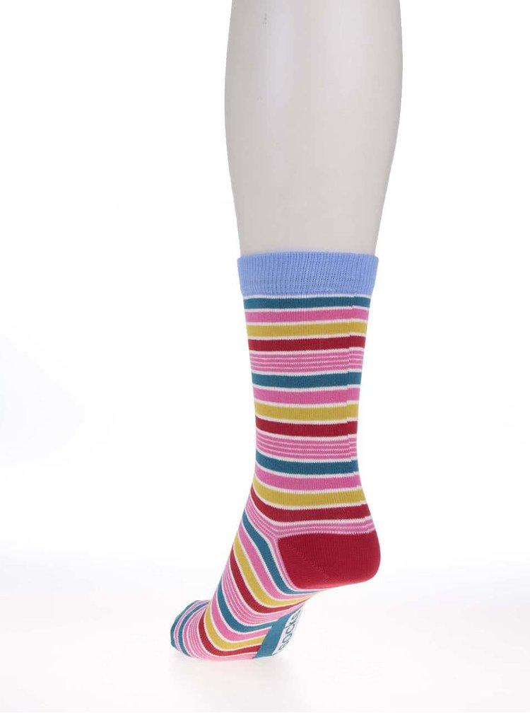 Sada šiestich dámskych pruhovaných ponožiek Oddsocks Stripes